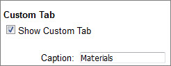 Make custom tabs in the Display Options.