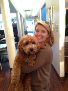 Jen got to spend some quality time with the House's very own dog, Gardy.