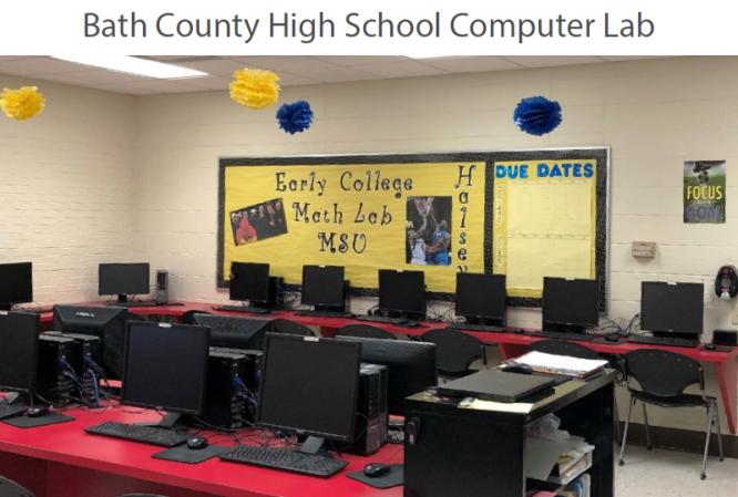 Bath County High School's Early College Math Lab