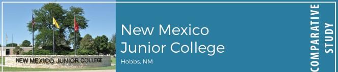 New Mexico Junior College, Hobbs, NM. Comparative study.