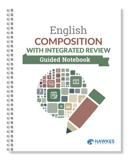 English Composition with Integrated Review Guided Notebook cover