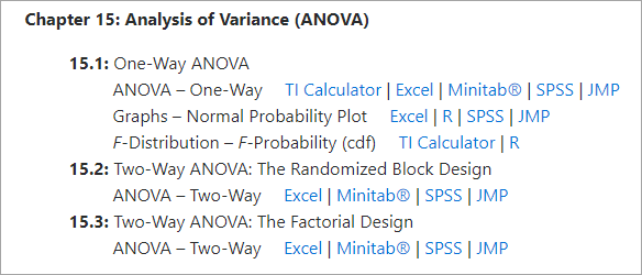 Chapter 15 ANOVA instructions