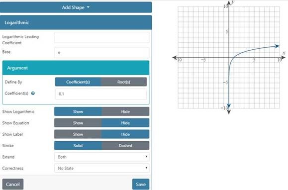 "The logarithmic functions can be implemented in Graph Builder. A menu has the option ""Show Logarithmic"" as ""Show"" so that the graph displays to the right of the menu."